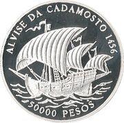 50 000 Pesos (Alvise da Cadamosto) – reverse
