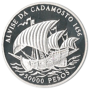 50 000 Pesos (Alvise da Cadamosto) -  reverse