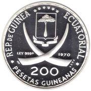 200 Pesetas Guineanas (1970 World Cup) – obverse