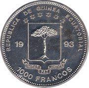1000 Francos CFA (Allosaurus) – obverse