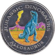 1000 Francos CFA (Allosaurus) – reverse
