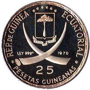 25 Pesetas Guineanas (United Nations) – obverse