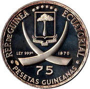 75 Pesetas Guineanas (Pope John XXIII) – obverse