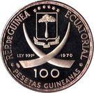 100 Pesetas Guineanas  (Dürer's Praying Hands) – obverse