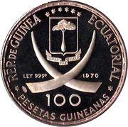 100 Pesetas Guineanas  (Dürer's Praying Hands) -  obverse