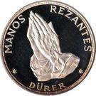100 Pesetas Guineanas  (Dürer's Praying Hands) – reverse