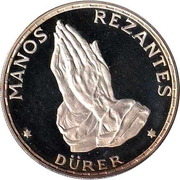 100 Pesetas Guineanas  (Dürer's Praying Hands) – reverse