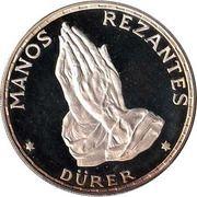 100 Pesetas Guineanas  (Dürer's Praying Hands) -  reverse