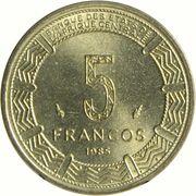 5 Francos CFA – reverse