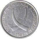 5 Pesetas Guineanas – obverse