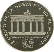 1000 Francos CFA (Brandenburg Gate) – reverse