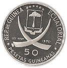 50 Pesetas Guineanas (Dürer's Praying Hands) – obverse