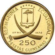 250 Pesetas Guineanas (Maja Desnuda) – obverse