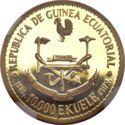 10 000 Ekuele (Masie Nguema Biyogo) – obverse