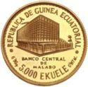 5000 Ekuele (Masie Nguema Biyogo) – obverse