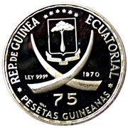 75 Pesetas Guineanas (Abraham Lincoln) – obverse