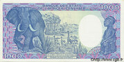 1000 Francos/Francs – reverse