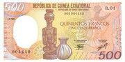 500 Francos/Francs – obverse