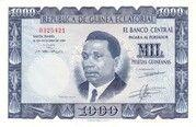 1000 Pesetas Guineanas -  obverse