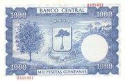 1000 Pesetas Guineanas -  reverse