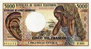 5000 Francos/Francs – obverse