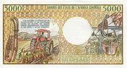 5000 Francos/Francs – reverse