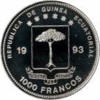 1000 Francos CFA (Tyrannosaurus Rex) – obverse