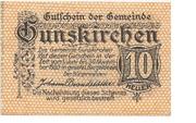 10 Heller (Gunskirchen) -  obverse