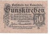50 Heller (Gunskirchen) -  obverse