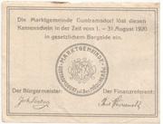 50 Heller (Guntramsdorf) -  reverse