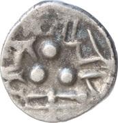 ½ Drachm (Late Gupta, Malwa Region) – obverse