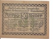50 Heller (Gutau, Hundsdorf, Erdmannsdorf) -  obverse