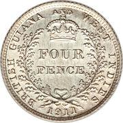 4 Pence - George V – reverse