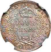 4 Pence - Victoria – reverse