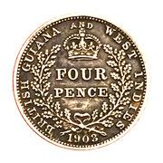 4 Pence - Edward VII – reverse