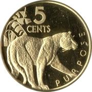5 Cents (Jaguar - Set Issue) – reverse
