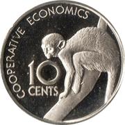 10 Cents (Squirrel Monkey - Set Issue) – reverse