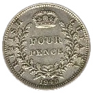 4 Pence - George VI – reverse