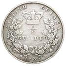 ½ Guilder - William IV – reverse