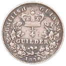 ¼ Guilder - William IV – reverse