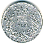 1 Guilder - William IV – reverse