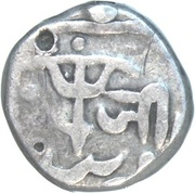 ½ Rupee - Shah Alam II [Jiyaji Rao] – reverse