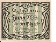 30 Heller (Haag) -  obverse