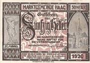 50 Heller (Haag) – obverse