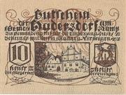 10 Heller (Hadersdorf am Kamp) – obverse