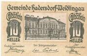 10 Heller (Hadersdorf- Weidlingau) – obverse