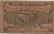 50 Heller (Hadersfeld) – obverse