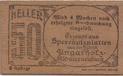50 Heller (Hadersfeld) – reverse