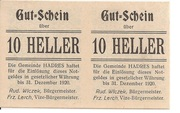 20 Heller (Hadres) – obverse