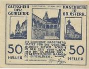 50 Heller (Hagenberg) -  obverse